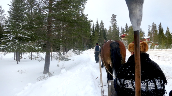 Lindvallens Fäbod, Häst & släde, Jonas i Sälen, horse sledge tour, Lindvallen, barnaktivitet