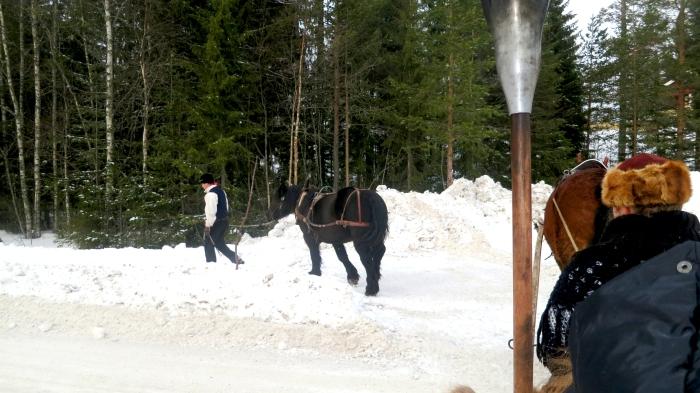 Jonas i Sälen, Lindvallens Fäbod, fäbodar i Sälen, häst och släde, Sälen