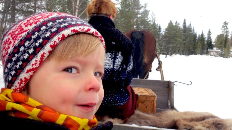 Häst och släde, horse sledge, Lindvallens Fäbod, Jonas i Sälen, fäbod, café, Säken