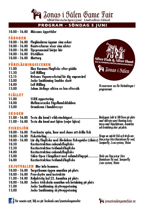 Jocke Smålänning, Ödemarksjägarn, jaktmässa, fiskemässa, Jonas i Sälen Game Fair, hundklubb, fisketävling, gamefair 4-5 juni