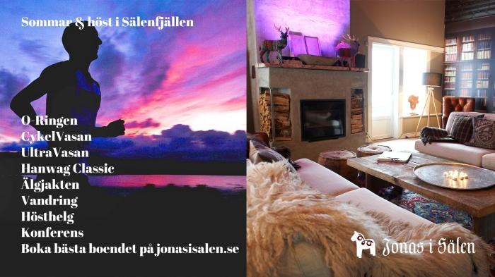 Bo i Sälen, Gattar, storstuga, Cykelvasan, Ultravasan, O-ringen, konferens i Sälen, Jonas i Sälen
