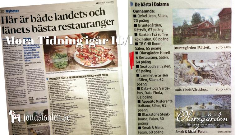 Olarsgården, olarsgården restaurang, olarsgården hotell, White Guide, a la carte, restaurang lindvallen, restaurang sälen, boka bord, middag lindvallen, Jonas i Sälen