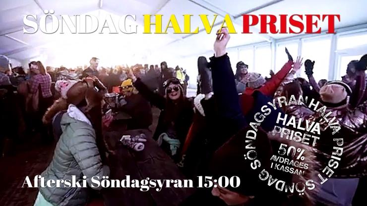 halva priset, halva priset söndag, Tandådalens Wärdshus, Jonas i Sälen, söndagsyran, afterski söndagsyran, Tandådalen, Sälen
