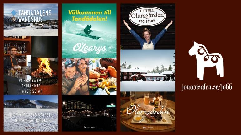 jobb, lediga jobb, säsongsjobb, jobba i sälen, personal sälen, säsongsjobb sälen, säsongsjobb fjällen, restaurang, kock, bagare, bartender, serveringspersonal, diskare, hotell, hotellpersonal, Jonas i Sälen, Olarsgården, O'Learys, Tandådalens Wärdshus, TD Lounge, Pulsen
