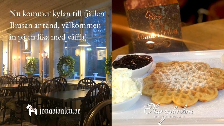Olarsgården hotell, Olarsgården restaurang, White Guide, middag sälen, konferensmiddag, upplevelsemiddag, vildmarksrestaurang, lokalproducerat, ekologiskt, Sälen, fjäll, Dalarna, Jonas i Sälen