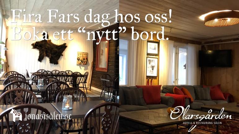 Olarsgården, Olarsgården hotell och restaurang, fars dag, fira fars dag, Jonas i Sälen, restaurang sälen, restaurang lindvallen, våfflor, våfflor lindvallen, öppet sälen, öppet lindvallen, boka bord, White Guide, Sälen